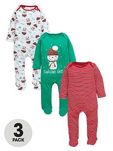 ladybird-baby-boys-3-pack-christmas-sleepsuits