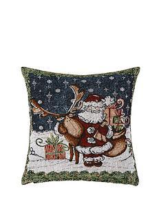 santa-amp-reindeer-tapestry-cushion