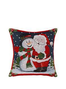 santa-amp-snowman-tapestry-cushion