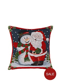 santa-amp-snowman-tapestry-cushion
