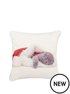 christmas-kittens-cushion