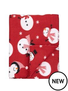 christmas-snowman-fleece-throw-130x150