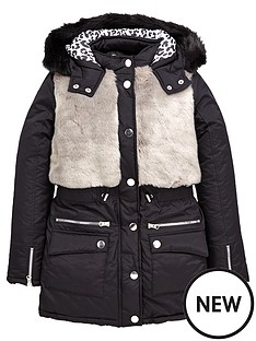 freespirit-girls-faux-fur-panel-casual-padded-coat
