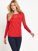 DEFINITIONS SWEETHEART NECK LACE TOP