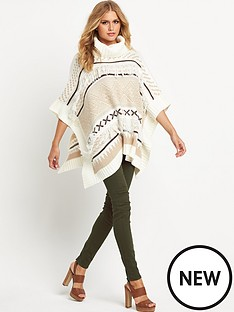 south-fringe-detail-cowl-neck-poncho