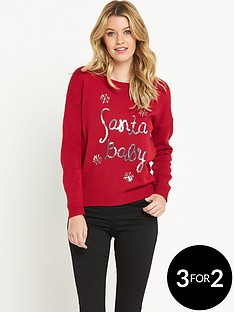 south-sequin-santa-baby-christmas-jumper