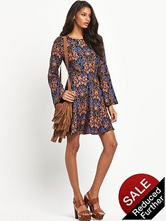 south-bell-sleeve-print-dressnbsp