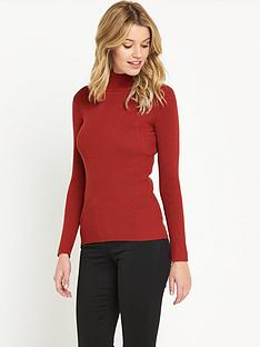 south-skinny-rib-polo-neck-jumpernbsp