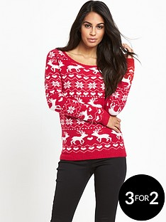 south-christmas-reindeer-heart-jumper