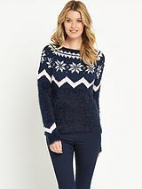 Winter Snowflake Fair Isle Jumper