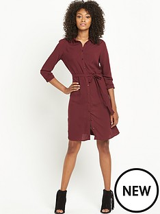 south-long-sleeve-belted-shirt-dress