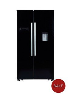 swan-sr8100b-american-style-fridge-freezer-with-water-dispenser-black