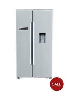 swan-sr8100s-american-style-fridge-freezer-with-water-dispenser-silver