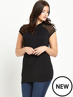so-fabulous-twist-neck-sheer-yoke-jersey-top