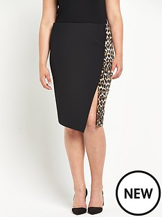 so-fabulous-so-fabulous-animal-print-ponte-asymmetric-pencil-skirt