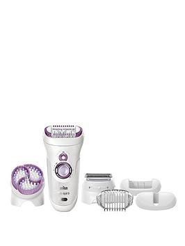 Braun Braun Silk-Epil 9961 Wet & Dry Epilator With Skin Spa And Sonic  ... Picture