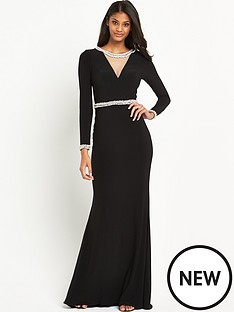 forever-unique-tara-cut-out-back-maxi-dress