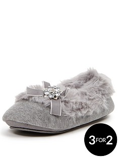 sorbet-mimosa-grey-fur-lined-ballerina-with-embellisment