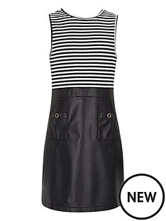 river-island-girls-a-line-stripe-and-pu-dress