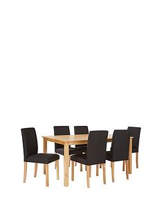 primonbsp150-cm-fixed-top-dining-table-nbsp6-fabric-chairs