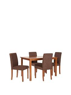primonbsp120-cm-dining-table-4-fabric-chairs