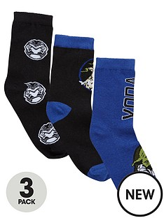 character-star-wars-3-pack-socks