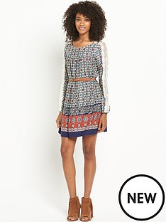 south-lace-trim-boho-dress