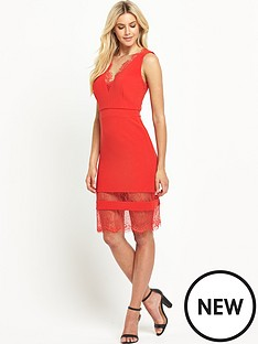 definitions-definitions-rib-v-neck-dress-with-lace-insert