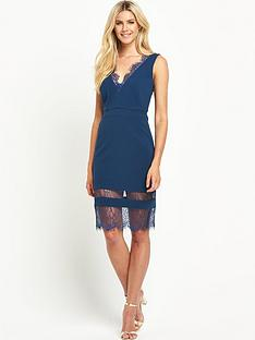definitions-rib-v-neck-dress-with-lace-insert