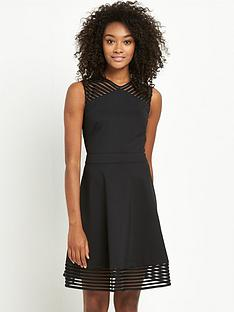 ted-baker-mesh-detail-skater-dress