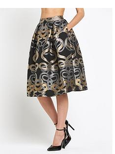 ted-baker-snake-jacquard-full-skirt