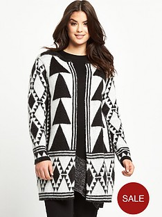 so-fabulous-plus-size-aztec-pattern-edge-to-edge-cardigan-dual-14-32