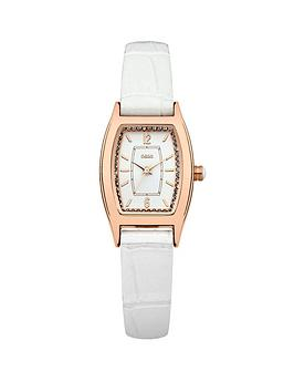 oasis-rose-gold-tone-white-strap-ladies-watch