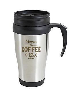 Personalised Coffee OClock Travel Mug