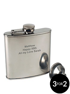 personalised-stainless-steel-6oz-hipflask