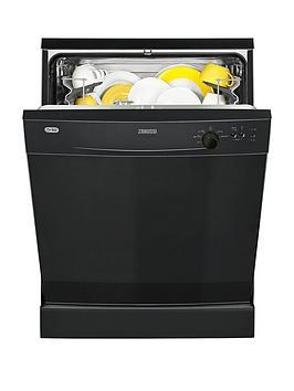 Zanussi Zdf21001Na 12Place Full Size Dishwasher  Black
