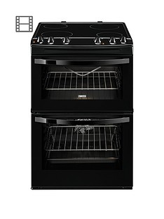 zanussi-zcv68010ba-60cm-electric-freestanding-double-oven-black