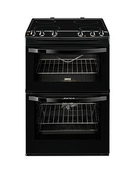 Zanussi ZCV68010BA 60cm Electric Freestanding Double Oven  Black