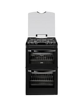 zanussi-zcg43000ba-55cm-gas-freestanding-double-oven-black