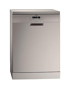 Aeg F56302M0 60Cm 13 Place Full Size Dishwasher  Stainless Steel
