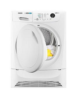 Zanussi ZDH8333PZ 8kg Condenser Sensor Dryer  White