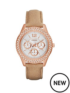 fossil-fossil-stella-crystal-set-multifunction-rose-gold-case-leather-strap-ladies-watch