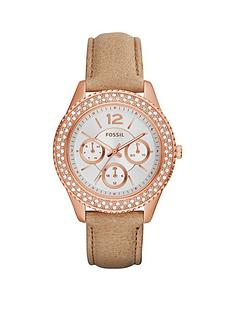 fossil-stella-crystal-set-multifunction-rose-gold-case-leather-strap-ladies-watch