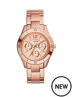 fossil-fossil-stella-rose-gold-plated-multifunction-ladies-watch