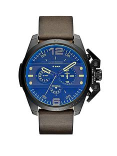 diesel-ironside-black-multi-dial-watch-with-green-leather-strap