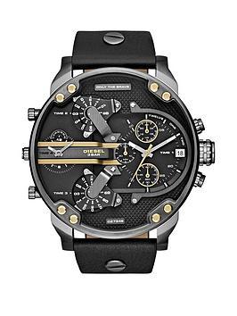 diesel-mr-daddy-black-multi-dial-black-leather-strap-mens-watch
