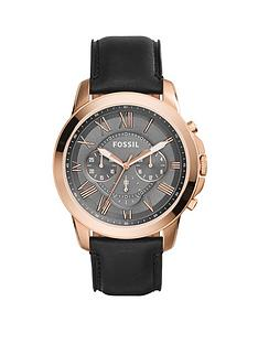 fossil-grant-rose-gold-case-grey-dial-black-leather-strap-mens-watch