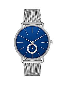 skagen-hagen-blue-face-stainless-steel-bracelet-mens-watch