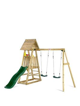 plum-indri-wooden-climbing-frame-outdoor-play-centre-with-double-swing-and-picnic-table