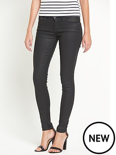 pepe-jeans-pixie-mid-rise-leather-touch-skinny-jean